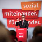 Florian Pronold spricht auf der Landesvertreterversammlung
