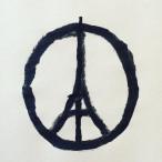 Das Zeichen für Frieden mit dem Eiffelturm